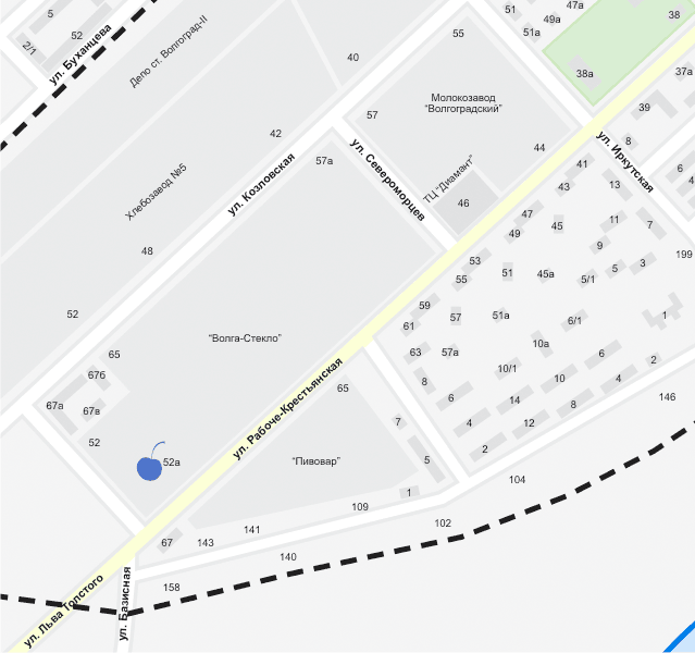 SQ на карте